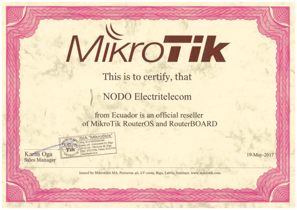 mikrotik certicated